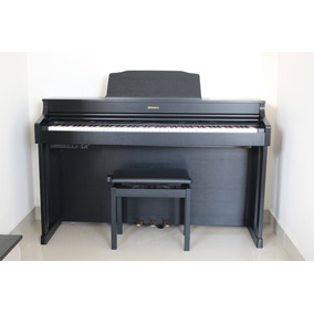 Piano Digital Roland Hp 603 Cb Preto Semi Novo Com Banco