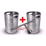 2 Barris De 10 L Para Chopp Ou Cerveja Artasanal + Chave