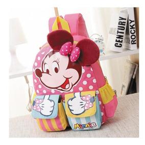 Mochilinha Escolar Infantil Disney Minie Mickey Frete Grátis