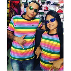 Camisa Lacoste Arco Iris - Calçados, Roupas e Bolsas no Mercado ... 4f4433a6d4