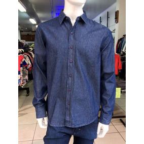 e3e39dc7a2 Camisa Jeans Masculina - Camisa Casual Manga Longa Masculino no ...