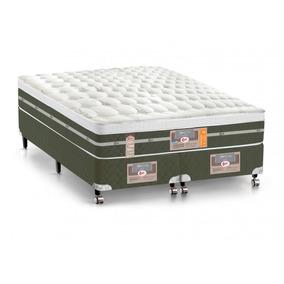 Cama Box King Castor | Colchão Ss Molas Bonnel Air+box Si