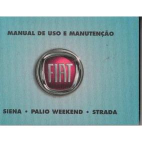 Manual Proprietário Weekend Siena Strada 2009 10 Kit Complet