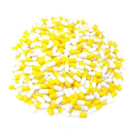 Capsulas # 0 Gelatina Vacias Blanco Con Amarillo X Millar