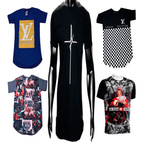 be7fb9125 Kit 15 Camisa Camiseta Masculina Famosa Swag Top