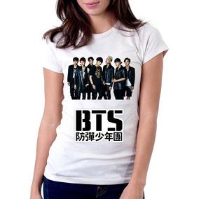 Camiseta Babylook Kpop Bangtan Boys Bts Barato e49bba39ef0f5