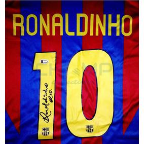 Jersey Firmado Ronaldinho Fc Barcelona 2005-06 R10 Autografo 9cfe9f108221f