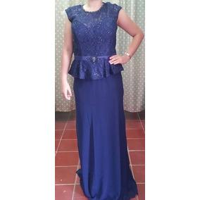 Vestido Largo Azul Oscuro Xl