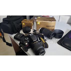 Kit Completo Profissional Nikon D5100-5 Lentes, Etc.