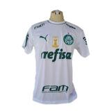 Camisa Palmeiras Nova Verde Branca 2019 Bordado Barato Porco b2407ca282d4a