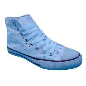 Zapatillas De Mujer Botitas De Lona En Promocion Liquidamos