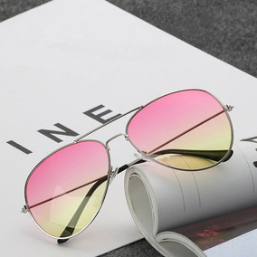 8760bce3388b0 Óculos Aviador Lente Colorida Degrade Rosa Amarelo. R  25