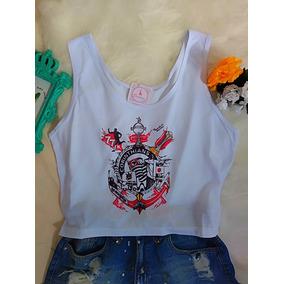 Camisa Do Corinthians Blusa Feminina Cropped Time Futebol 6e32ced343491