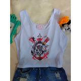 176231a643 Camisa Do Corinthians Blusa Feminina Cropped Time Futebol