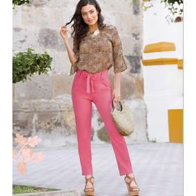 Pantalón Color Rosa Fresco Corte Recto Rb