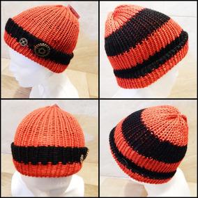 Gorro Doble Vista Durazno Negro Crochet Unisex Steampunk
