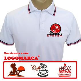 14e499dd5 Camisa Polo Uniforme Bordada - Pólos Manga Curta Masculinas no ...