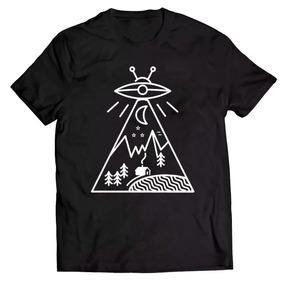 Camiseta Básica Camisa Et Alien Abdução Espaçonave Unissex d327a169e6085