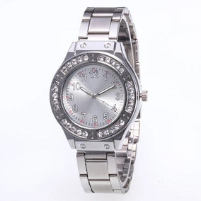 Reloj Metal Moda Dama Estilo Casual Color Plata