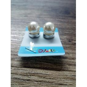 Brinco De Pressão Magnético De Pérola 1cm Elegante Luxo