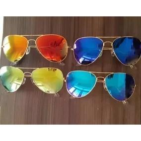 734ca3b5980d1 Oculos Aviador Amarelo - Óculos no Mercado Livre Brasil