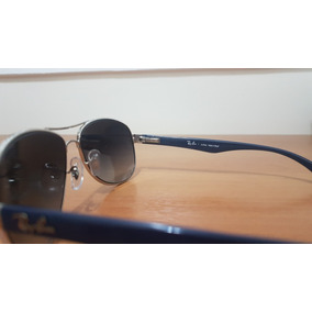 2b1fc22efc405 Óculos De Sol Ray Ban Azul Degrade Armação Prata - Óculos De Sol no ...