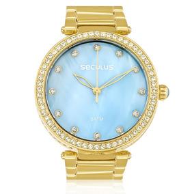 8a155a27137 Relogio Seculus Feminino Prata Cristais - Relógios De Pulso no ...
