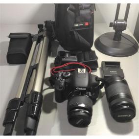 Câmera Canon T3i 2 Lentes Flash Canon 430ex Ii Tripé Sd Wifi