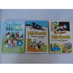 Lote Com 3 Livros Pato Donald Carl Banks E Escoteiros Mirins