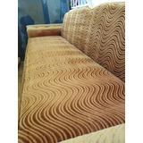 Sofa Cama Vintage Usado Color Mostaza Tela