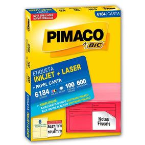 Cx. De Etiqueta Carta 84,7x101,6 6184 Pimaco Cx 600 U