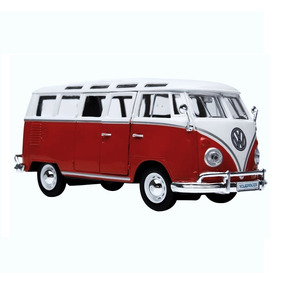 Miniatura Van Samba Escala 1:25 Vermelha Volkswagen - Maisto