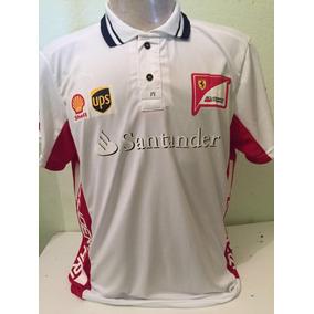 f31e73409a Camiseta Camisa Ferrari Santander Masculina Promoção