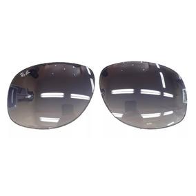 0d00d578db3c1 Par Lente Oculos Ray Ban Rb3387 70mm Azul Suave - Original