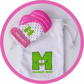 Munch Mitt, Guante De Dentición, Mordedera Para Bebé - Rosa