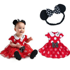 Roupa De Bebe Menina Vestido Minnie Vermelho Disney Store