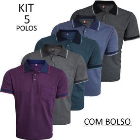 Camisa Polo Com Bolso Atacado - Pólos Manga Curta Masculinas no ... 8e32825d1593f