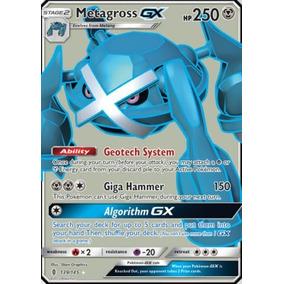 Metagross Gx Fa 74/145 - Pokémon Tcg - Carta Em Português