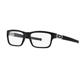 f1d20e22ea890 Armação Oculos Grau Oakley Marshal 8034 0153 Preto Cetim