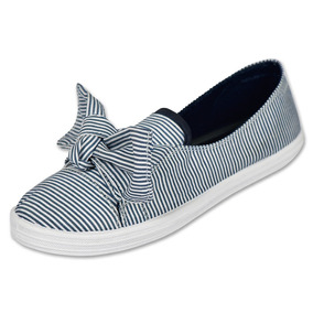 Calzado Dama Mujer Zapato Sneaker Ozono Textil Marino Comodo