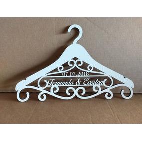 Cabides Personalizado Para Vestido De Noiva Em Mdf Branco