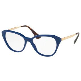 Óculos De Grau Prada Pr 28sv Bil1o1/54 Azul