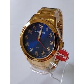 Relógio Masculino Dourado Mondaine Ref83437gpmvde3 Original