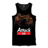 Camiseta Regata Attack Life Lutas E Musculação Lutando Mma F 8b1846e03b177