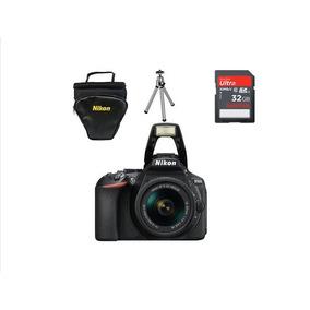 Câmera Nikon D5600+18-55+32gb+bolsa+mini Tripé-envio Hoje+nf