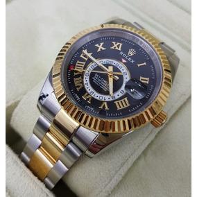 Reloj Rolex Sky-dweller Acero Oro Amarillo Num Romanos Aut