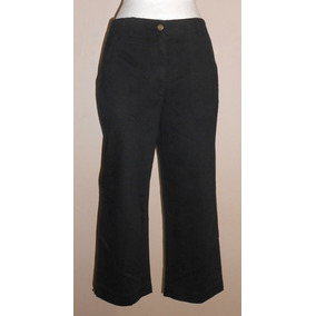 Jones Sport Moderno Pantalón Negro Tipo Capri Talla 8