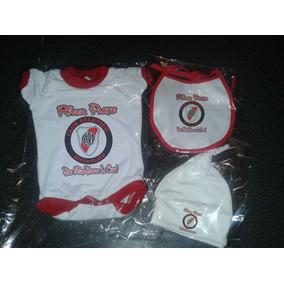 River Plate Conjunto Bebe Futbol X3 Prendas Body +extras