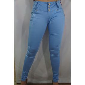 Pantalón De Gabardina Dama Levanta Pompis Azul Cielo Clash