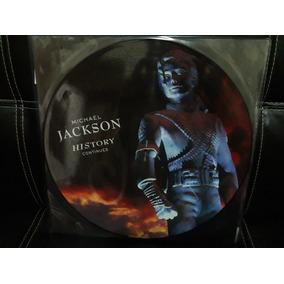 Micharl Jackson Lp Picture Disc Duplo History Continues Novo